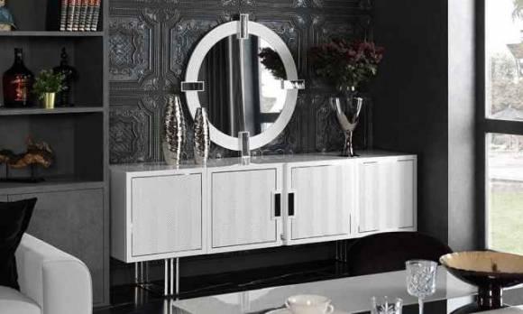 Evmoda Mobilya - White Prizma Konsol ve Aynası
