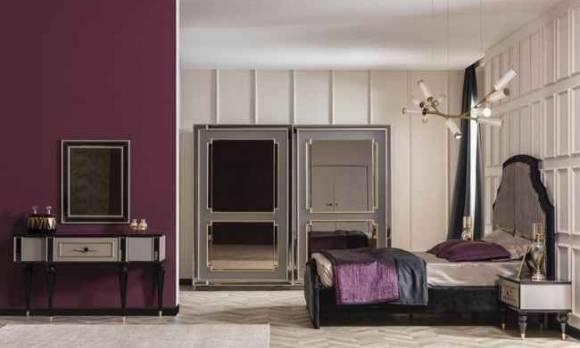 Evmoda Mobilya - Retro Art Deco Yatak Odası Takımı (1)
