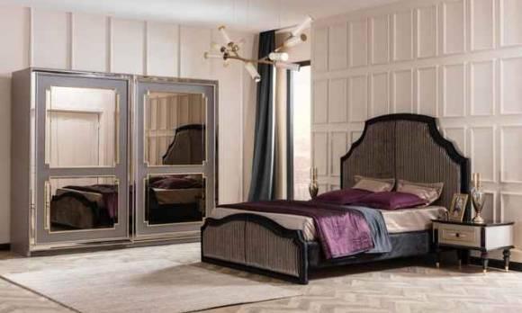 Evmoda Mobilya - Retro Art Deco Yatak Odası Takımı