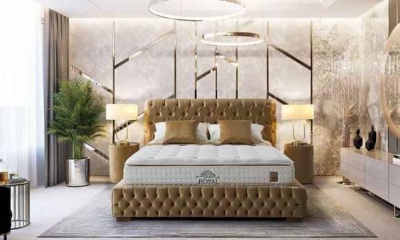 Evmoda Mobilya - Royal Luis Baza Yatak Başlık Seti