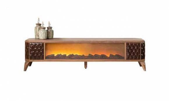 Evmoda Mobilya - Royal Modern Şömineli Tv Sehpası (1)