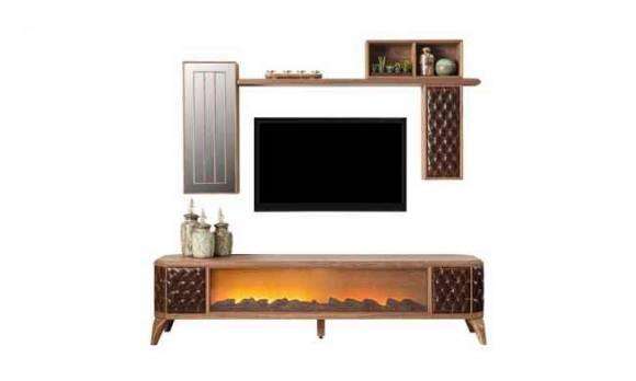 Evmoda Mobilya - Royal Şömineli Modern Tv Ünitesi (1)