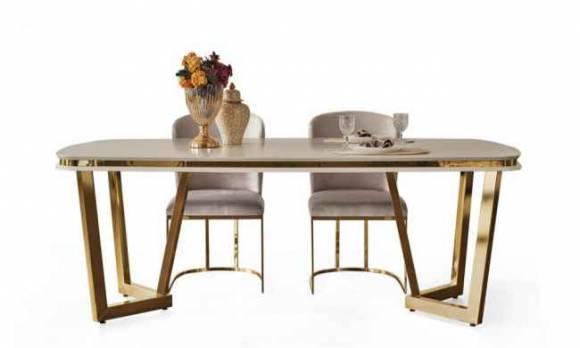 Evmoda Mobilya - Sandra Krem Yemek Masası