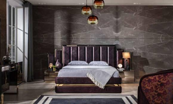 Evmoda Mobilya - Setra Ceviz Modern Yatak Odası Takımı (1)