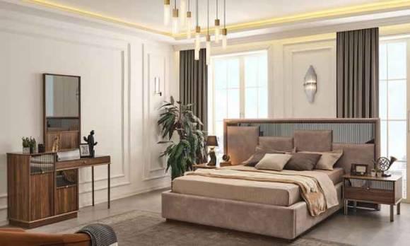 Evmoda Mobilya - Sienal Ceviz Modern Yatak Odası Takımı (1)