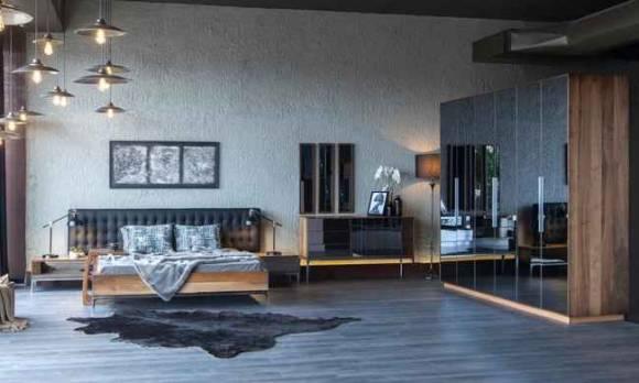 Evmoda Mobilya - Silver Modern Yatak Odası Takımı
