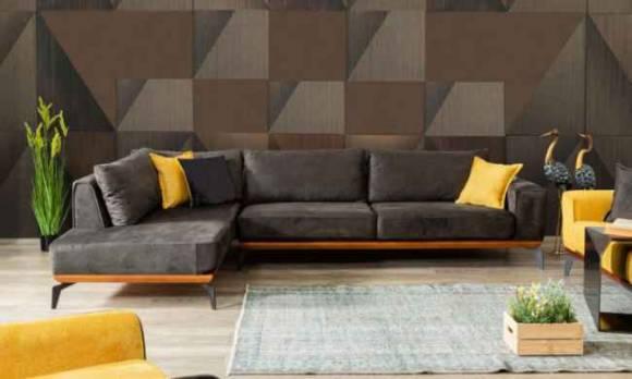 Evmoda Mobilya - Sofa Best Sarı Köşe Takımı