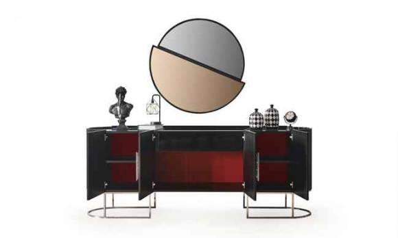Evmoda Mobilya - Stone Sılver Konsol ve Aynası (1)