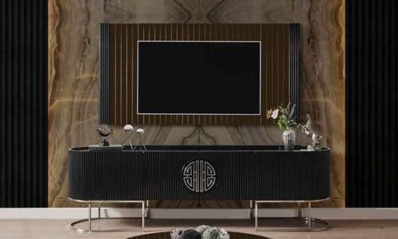 Evmoda Mobilya - Stone Sılver Modern Tv Ünitesi