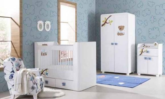 Evmoda Mobilya - Teddy Mavi Bebek Odası Takımı