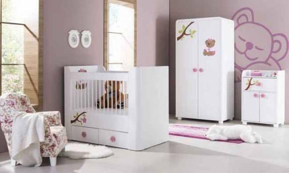 Evmoda Mobilya - Teddy Pembe Bebek Odası Takımı