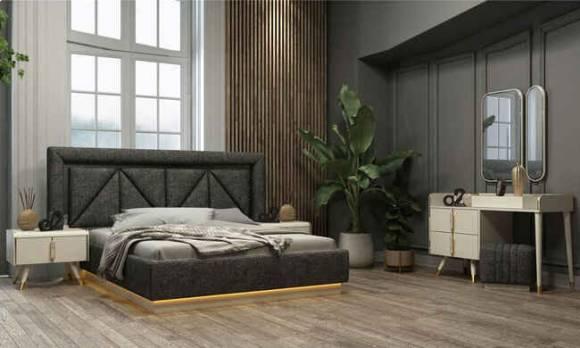 Evmoda Mobilya - Tetra Beyaz Modern Yatak Odası Takımı (1)