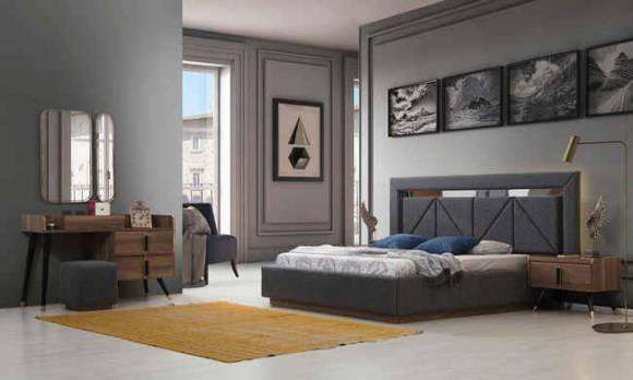 Evmoda Mobilya - Tetra Ceviz Modern Yatak Odası Takımı (1)