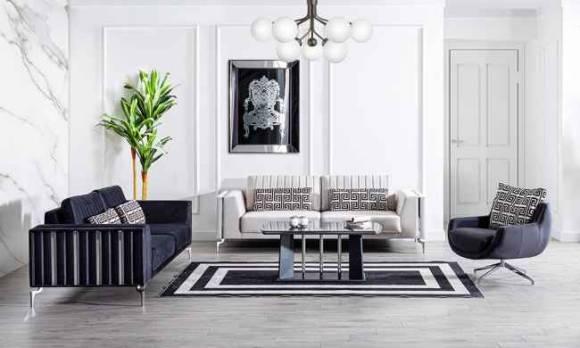 Evmoda Mobilya - Titanyum Modern Koltuk Takımı