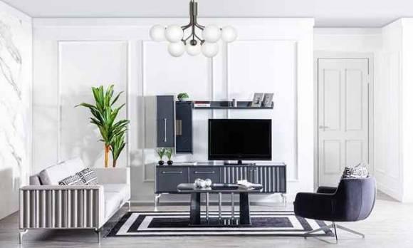 Evmoda Mobilya - Titanyum Modern Tv Ünitesi (1)