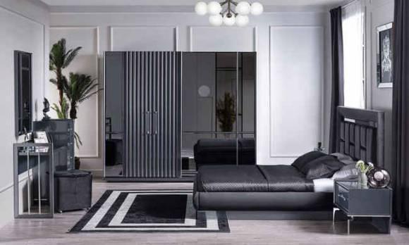 Evmoda Mobilya - Titanyum Modern Yatak Odası Takımı (1)
