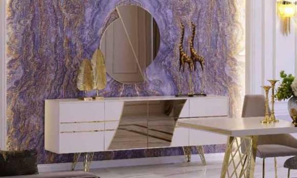 Evmoda Mobilya - Uludağ Gold Konsol ve Aynası