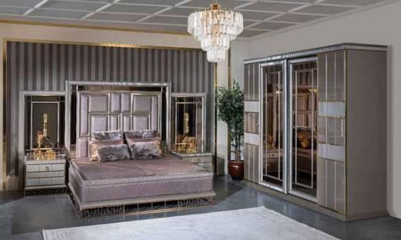 Evmoda Mobilya - Valeria Art Deco Yatak Odası Takımı
