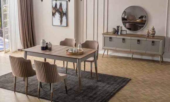 Evmoda Mobilya - Velora Modern Yemek Odası Takımı (1)