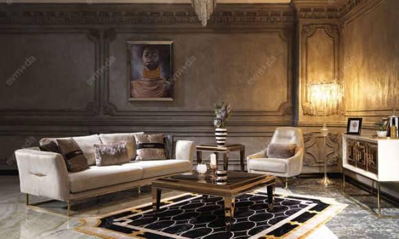 Evmoda Mobilya - Versace Gold Modern Koltuk Takımı (1)