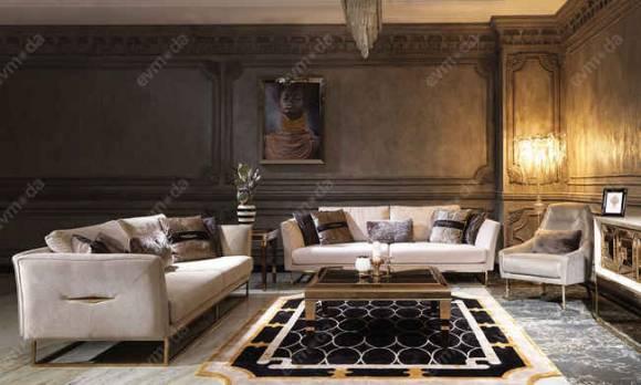 Evmoda Mobilya - Versace Gold Modern Koltuk Takımı