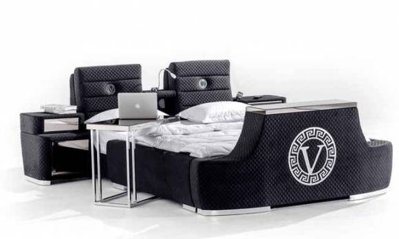 Evmoda Mobilya - Versace Modern Tv Mekanizmalı Karyola (1)