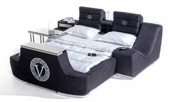 Evmoda Mobilya - Versace Tv Mekanizmalı + Masajlı Karyola (1)