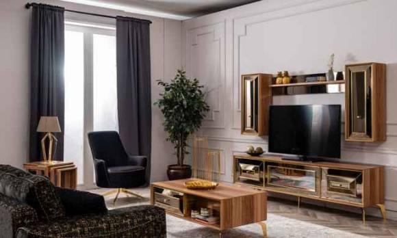 Evmoda Mobilya - Vessan Modern Şömineli Tv Ünitesi (1)