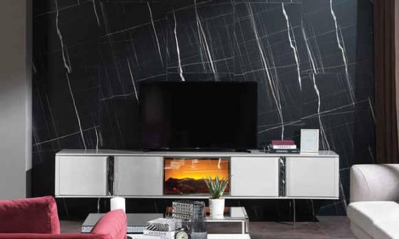 Evmoda Mobilya - Vesta Şömineli Modern Tv Ünitesi