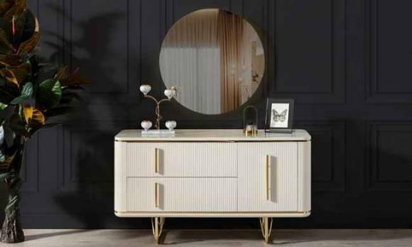 Evmoda Mobilya - Vogue Şifonyer ve Aynası