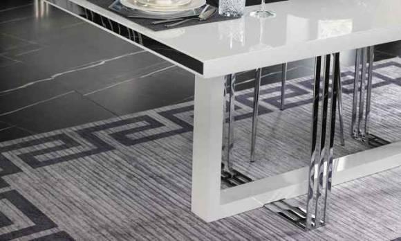 Evmoda Mobilya - White Prizma Yemek Masası (1)