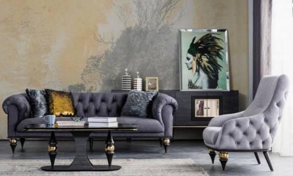 Evmoda Mobilya - Zeny Art Deco Koltuk Takımı (1)
