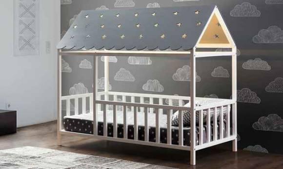 Evmoda Mobilya - Zirve Beyaz Montessori Çocuk Karyola
